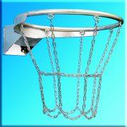 Kosárlabda gyűrű galvanizált kültéri DIN standard (láncos kivitel)