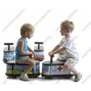 La cosa (iskolabusz) gyermek lábbalhajtós kiskocsi , beltéri kisautó rakodóval