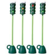 Kresz jelzőlámpa oktatáshoz (forgatható jelzőfejjel, 121 cm magasságig) stabil (5