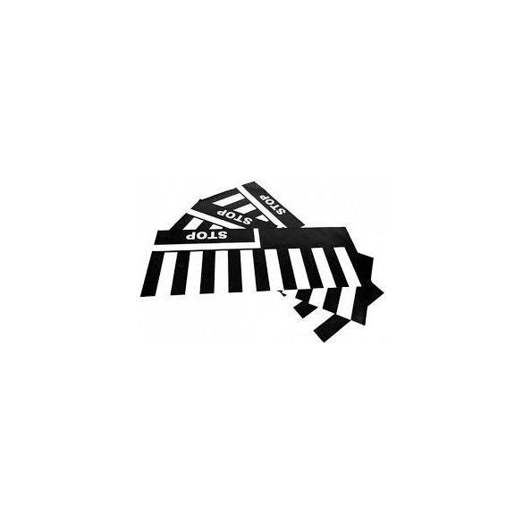 Zebra-gyalogátkelő szőnyeg szett, 3 darab/75x20mm