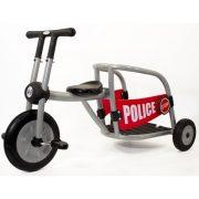Pilot 300 rendőrautó tricikli, többszemélyes, dinamic egyenes kormány, óvodáknak