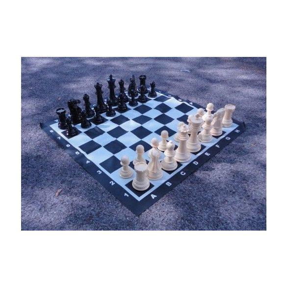 Capetan® Family Kültéri sakk készlet sakktáblával ,időjárásálló ABS műanyag 92x92cm