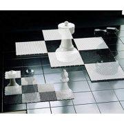 Capetan® 143x143cm UV álló műanyag sakk tábla (64db elemből áll)