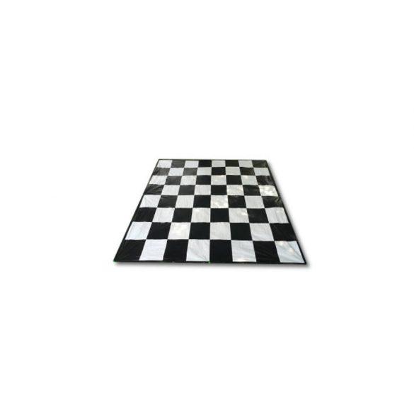 Capetan® textil 146x146cm sakk játékfelület, lehorganyzó kampóval tároló zsákkal, sakktábla