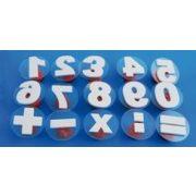 Nyomda 28 db betű stempli, festék párna nem tartozék
