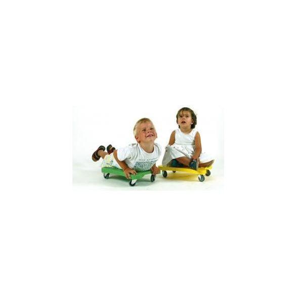 Guruló zsámoly gumírozott görgőkkel scooter deszka PIROS, rollerdeszka