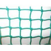 Védőháló, 5x5 cm szembőségű kézicsomózótt, 5mm vastag időjárásálló PP anyagból-