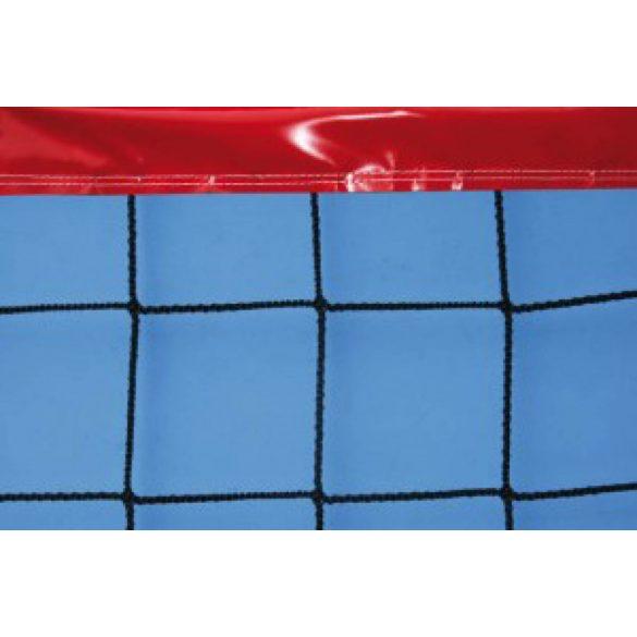 Strandröplabda háló körbevarrt 4 mm vastagságú kötél 85mm piros PVC