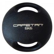 Capetan® 6Kg Professional Line Dual Grip kétfogantyús gumi medicinlabda (vízen