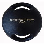 Capetan® 10Kg Professional Line Dual Grip kétfogantyús gumi medicinlabda (vízen
