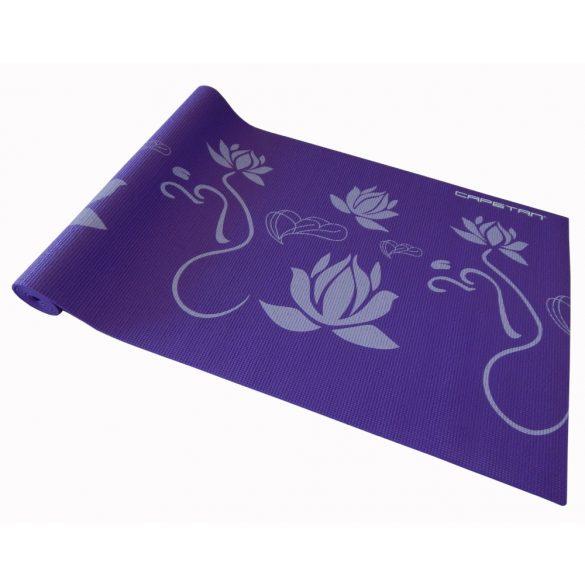 Capetan® 173x61x0,5cm Jóga szőnyeg lila színben, mintákkal