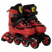 Ferrari® FS4 32-35 méret között állítható fémcsatos gyermek görkorcsolya Piros