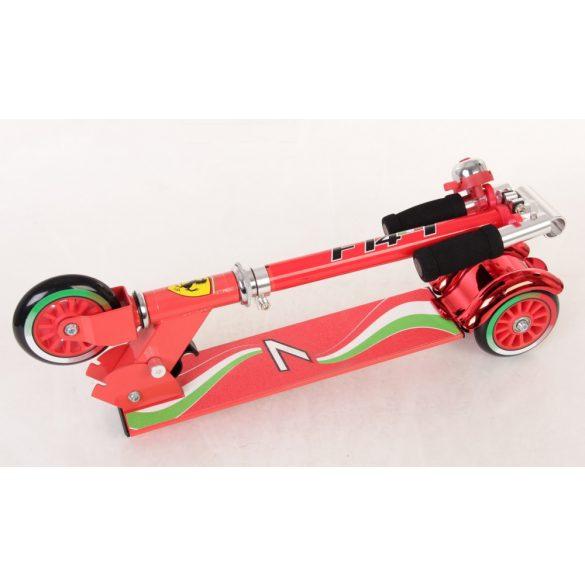 """Ferrari® """"Kids"""" három kerekű gyermek roller Piros színben csengettyűvel"""