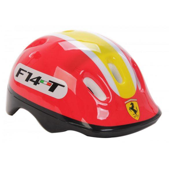 """Ferrari® """"Kiddy"""" bukósisak M méretben - Piros színben rollerhez, gördeszkához"""