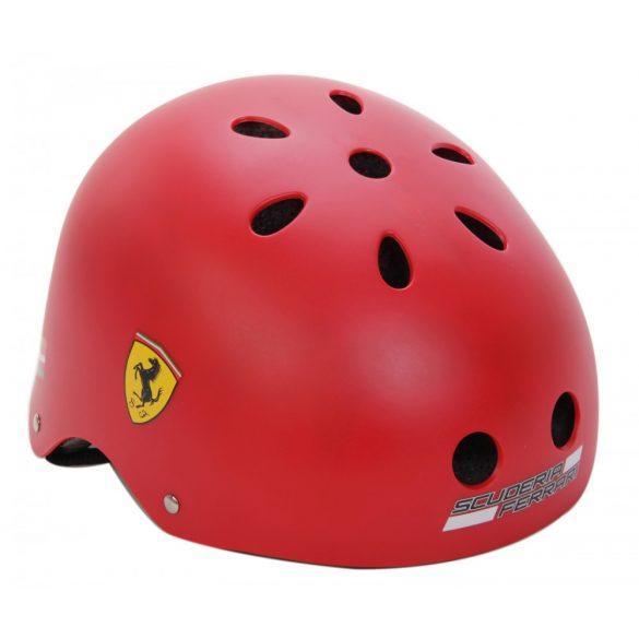 """Ferrari® """"Old School"""" Piros színű """"M"""" fejvédő sisak gördeszkához -"""