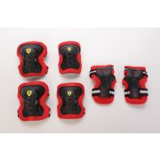 """Ferrari® """"L"""" méretű Fekete színű Könyök + Sípcsont + Térd"""