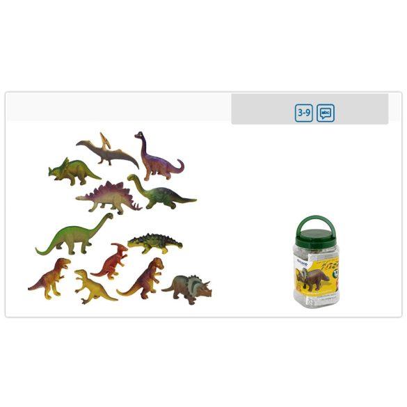 Műanyag dinoszaurosz figurák, készlet 12 db-os