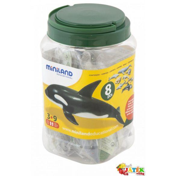 Tengeri állatok 8 db-os szett, műanyag tároló dobozban