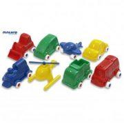 Minimobil 9 cm-es járműpark készlet 36 db -os