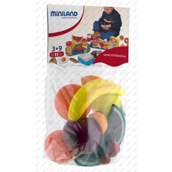 Gyümölcs válogatás, 15 részes , élethű kivitel műanyagból szerepjátékokhoz
