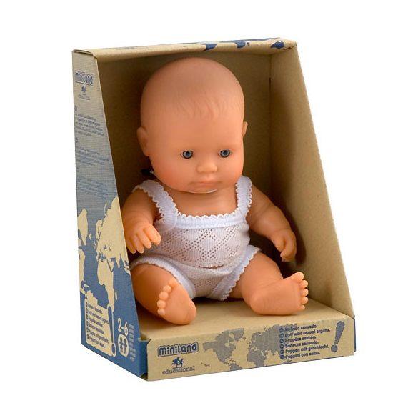 Európai karakter, lány baba 21 cm