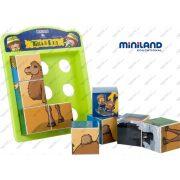 Kirakó kocka , mesekocka állatokkal , Miniland