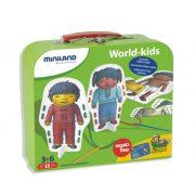 Fűzhető öltöztető kártyák különböző nemzetek gyermekei  (fiú-lány), Miniland