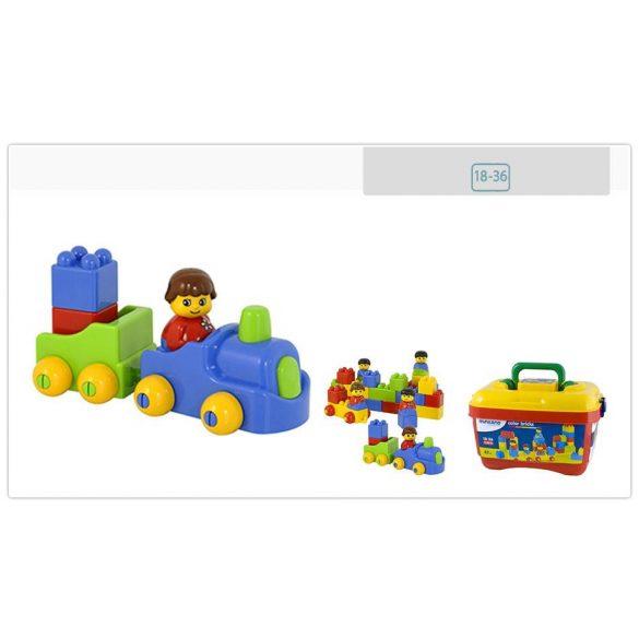 Color Bricks koffer - 47 darabból álló építőjáték készlet figurákkal