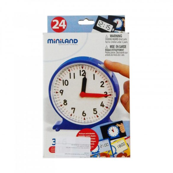Miniland Tanuljuk meg az órát, az óra használatát oktatójáték