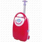 Piros játék bőrönd (53 cm) kislányoknak, Minland