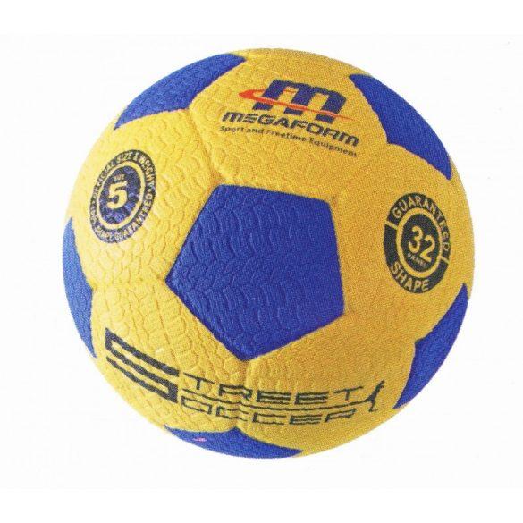 Megaform futball labda, street soccer No.5, hard gumi focilabda autógumi
