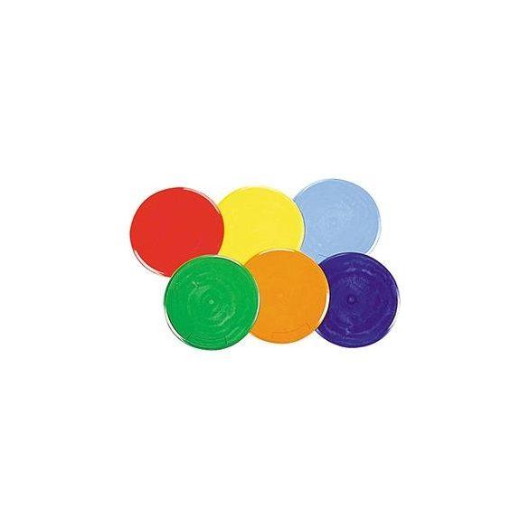 Padlójelölő korong szett nagyméretű 6 színű 25 cm átmérőjű jól