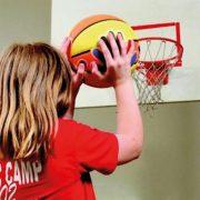 Tanulj meg kosarazni! Spordas 5-ös helyes kosárra dobási technikát segítő kosárlabda, külön jelzéssel a jobb- és balkezeseknek