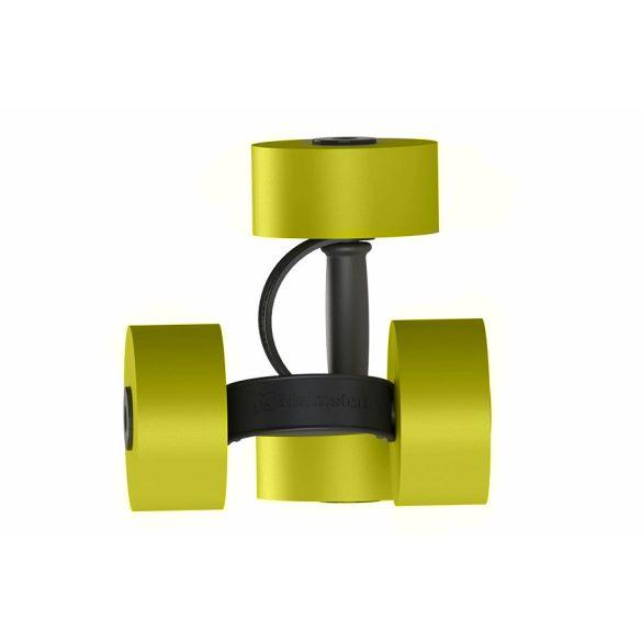 Aquafitness súlyzó pár, műanyag extra fogópánttal, 7x15 cm fejjel, sárga/fekete
