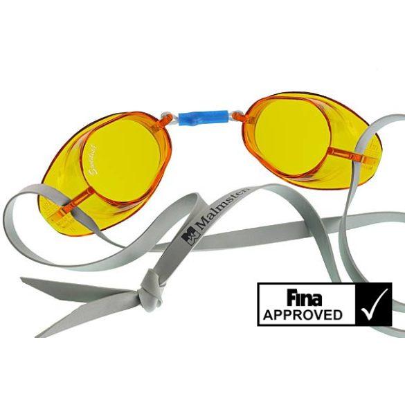 Svéd úszószemüveg sima áttetsző gyömbér  - amber, FINA jóváhagyott