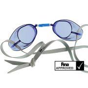 Svéd úszószemüveg sima kék áttetsző - blue, FINA jóváhagyott versenyszemüveg,