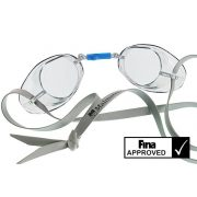 Svéd úszószemüveg sima átlátszó - clear, FINA jóváhagyott versenyszemüveg, Malmsten