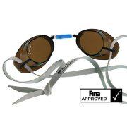 Svéd úszószemüveg sima füst  áttetsző lencse nem antifog- smoke