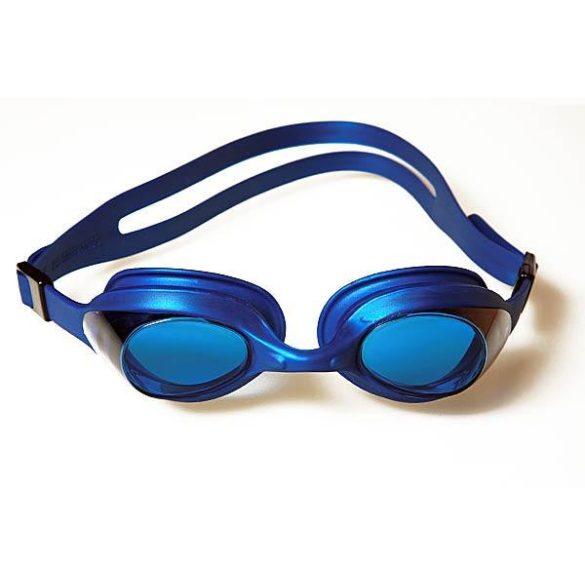 Malmsten Aqtiv felnőtt úszószemüveg fekete kerettel füst színű lencsével, zippes