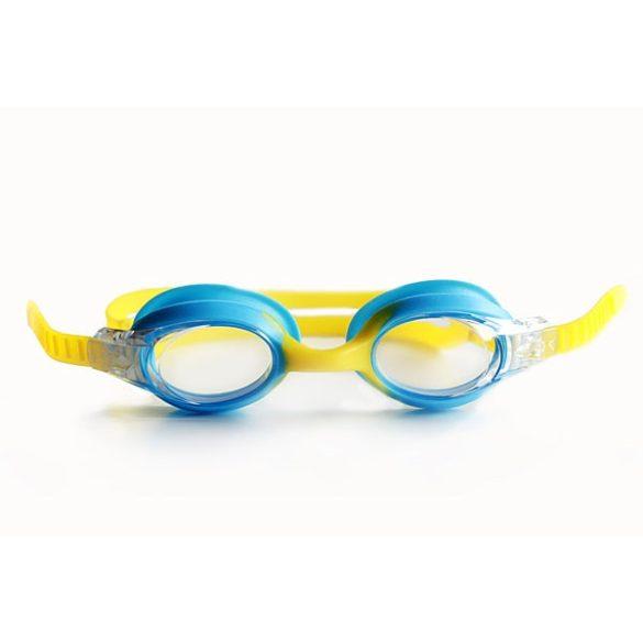 Guppy Junior úszószemüveg világoskék/sárga - gyermek úszószemüveg, Malmsten