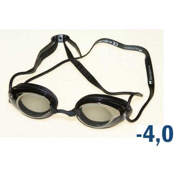 Dioptriás egyéni úszószemüveg választható lencsékkel, Malmsten márkájú, oldalanként eltérő dioptri