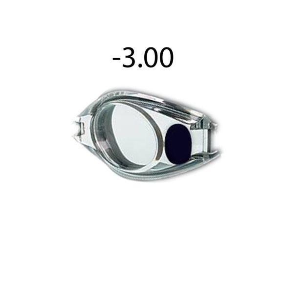 Dioptriás úszószemüveg  lencse -3.00, Malmsten optikai úszószemüveghez egy darab