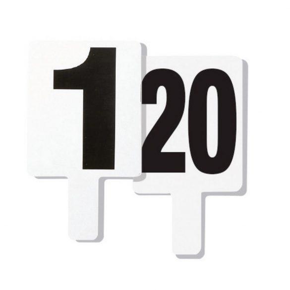 Cseretábla 2 garnitúra 1-20 számozással