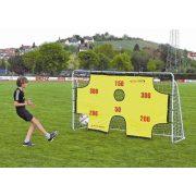 Fém focikapu, célzófallal és hálóval, 2,9x1,65x0.9m méretű kapu 2,5 cm