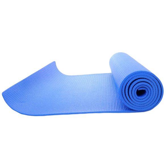 Jógaszőnyeg , tornaszőnyeg érdesített felülettel kék színben, 170x60x0,4 cm