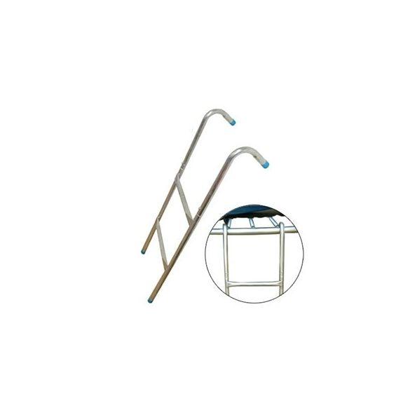 Létra kültéri óriás trambulinokhoz behajtható akasztóval 80-90 cm. peremmagasság között,