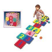Puzzle játszószőnyeg szett 30x30x1,4 cm táblákból, 12db tábla és 4db