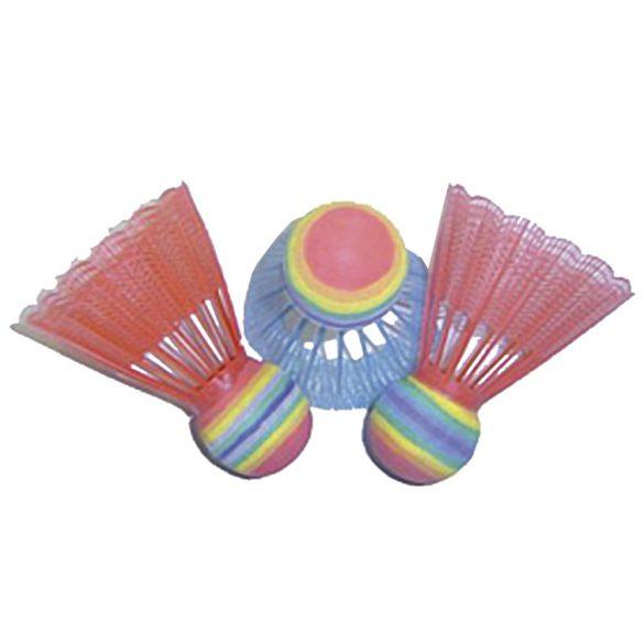 Neon színű tollaslabda, 3 db-os extra nagy fejjel