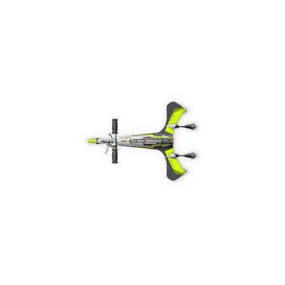 Roller 20x3 cm kerekekkel, alumínium, összecsukható 100 kg terhelhetőség, fekete