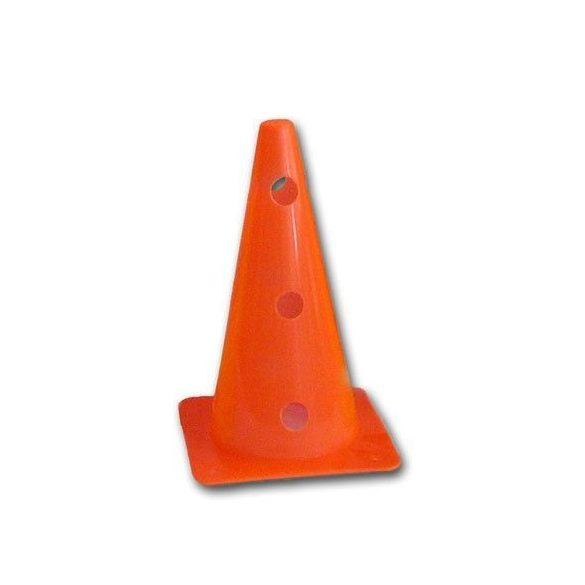 Jelölő bója 38 cm 12 lyukkal az oldalán felül zárt bója, neon narancs szín